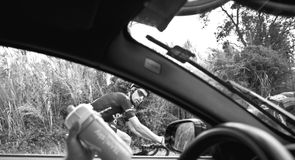 Scott spent the 15th stage of the Tour de France in the second team car
