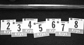 The numbers of our remaining riders were laid out at the start of the day