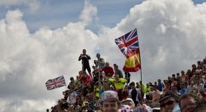 The fans came out in force to support the Tour de France with Team Sky enjoying its home team status
