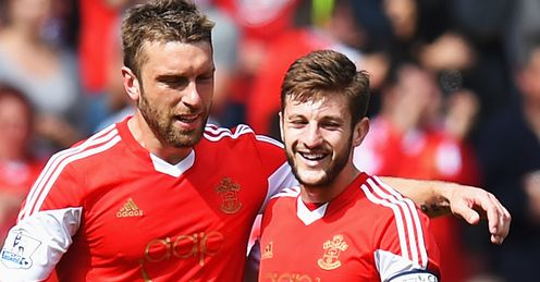 Lambert and Lallana: will be wearing the red of Liverpool on opening day of the season