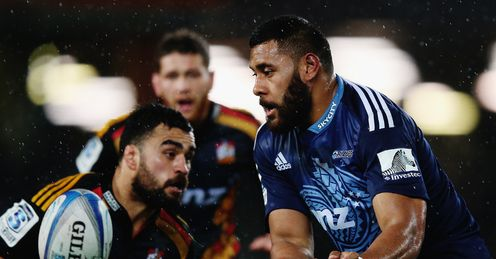 Patrick Tuipulotu for the Blues against the Chiefs