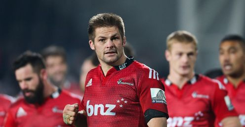 Richie McCaw C of the Crusaders leaves the field