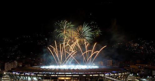 Fireworks: The Maracana provided a spectacular finale to a magnificent World Cup