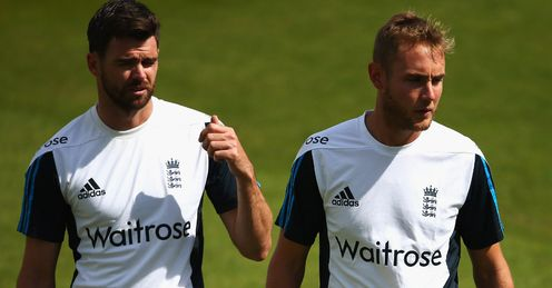 James Anderson and Stuart Broad toiled during India's second innings at Lord's