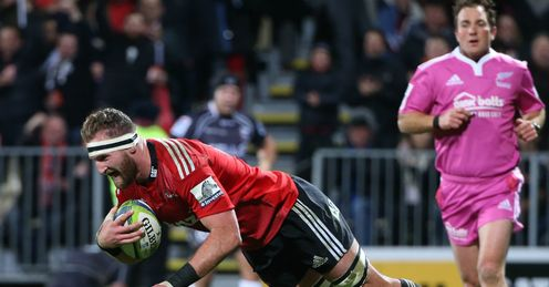 KIERAN READ TRY SUPER RUGBY CRUSADERS