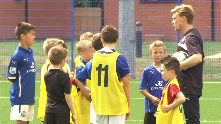 A look at the Premier League's investment in school sport, aiming to encourage children to get interested in sport at an early stage.