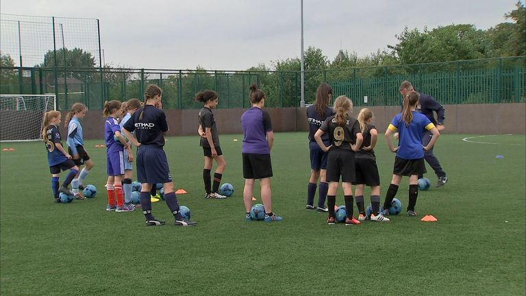 A look at Manchester City's girls-only soccer schools aimed at engaging more girls in football.