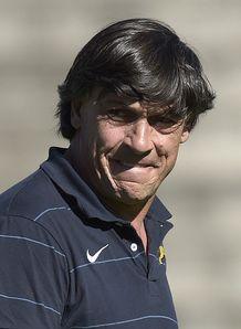 Argentina s Los Pumas head coach Daniel Hourcade