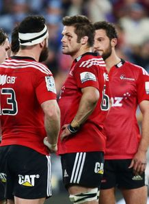 Crusaders players look dejected after the Super Rugby Grand Final