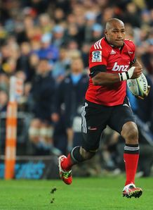 Crusaders wing Nemani Nadolo on a run in Super Rugby Final