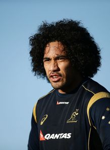 Joe Tomane Wallabies training RC 2014