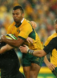 Kurtley Beale Aus v NZ Rugby Championship 2014