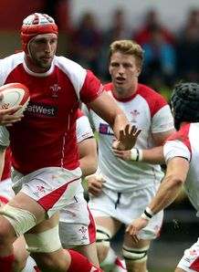 Luke Charteris in Wales Senior Trial