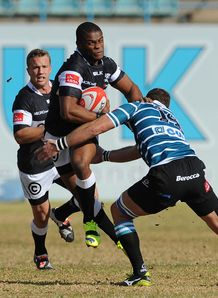 Sbura Sithole of the Sharks Currie Cup v Griquas