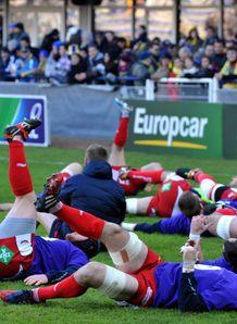 Scarlets warm up 2013