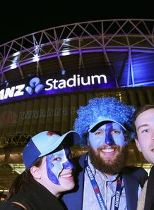 Waratahs fans outside ANZ Stadium
