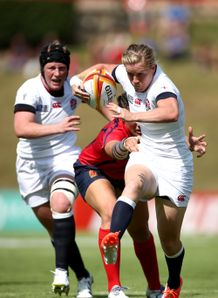 Women's Rugby World Cup: England beat Spain 45-5 in Pool A