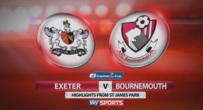 Exeter 0-2 Bournemouth