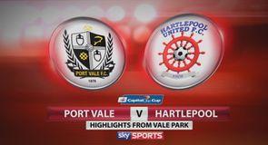 Port Vale 6-2 Hartlepool