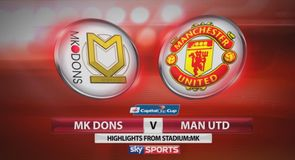 MK Dons 4-0 Man Utd - Highlights