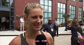Azarenka excited to be in US