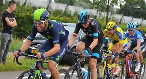 Christian Knees rode hard for Team Sky during the early stages...
