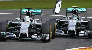 Hamilton and Rosberg's Spa battle