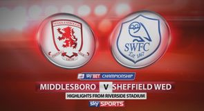 Middlesbrough 2-3 Sheffield Wednesday