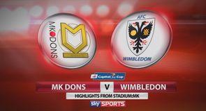 MK Dons 3-1 AFC Wimbledon