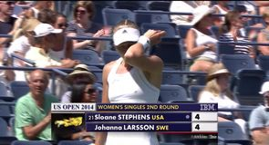 US Open Day 3 - Stephens v Larsson