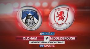 Oldham 0-3 Middlesbrough