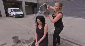 Natalie and Hayley's ice bucket challenge