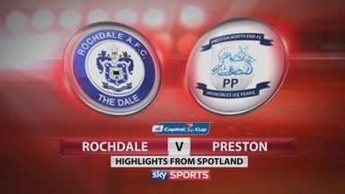 Rochdale 0-2 Preston
