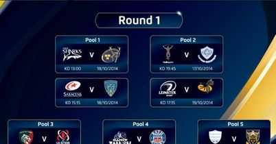 Huge clashes to start Champions Cup