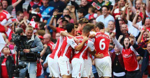 Arsenal: got their season off to a winning start