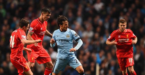 Lovren: struggled to get to grips with the Manchester City forwards