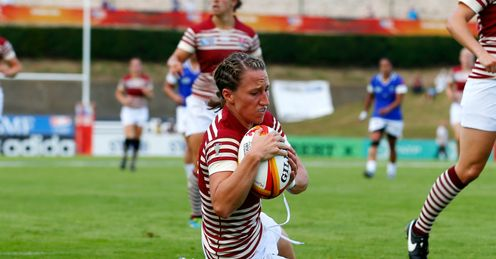 KATHERINE MERCHANT RUGBY WORLD CUP TRY ENGLAND SAMOA