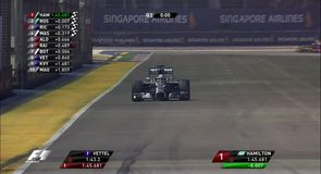 Hamilton snatches  Singapore pole