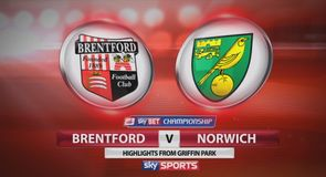 Brentford 0-3 Norwich