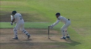 Patel stumped by Bairstow