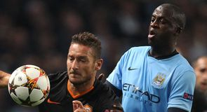 City pegged back by Totti