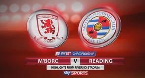 Middlesbrough 0-1 Reading