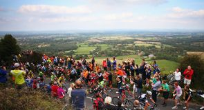 The peloton faced three categorised climbs on the tough stage of the race