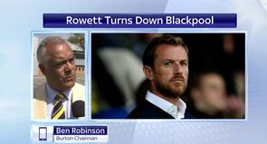 Rowett turns down Blackpool