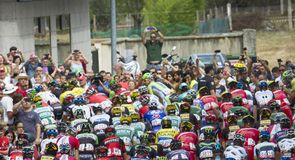 The riders set off on the 180km stage from Salvaterra de Miño to Cangas de Morrazo