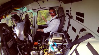 Brundle takes to the skies