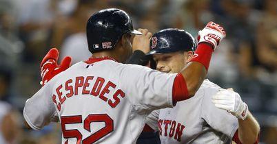Daniel Nava Yoenis Cespedes Boston Red Sox