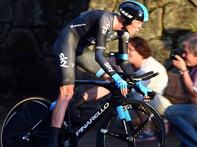 Chris Froome was looking to consolidate second place overall on the final day's time trial