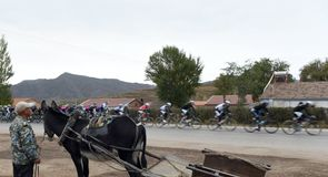 The locals seemed a little surprised to see the peloton pass through on the second day of action