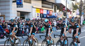 Team Sky's famous five were in great spirits ahead of the race in Utsonomiya